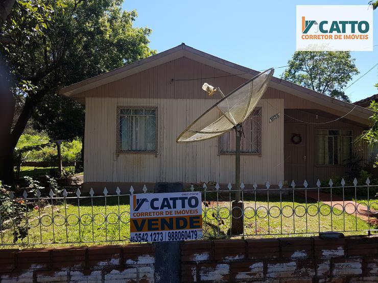 Lote de 22X42 m², com casa mista no Bairro Sto Antônio, Santa Izabel do Oeste-PR