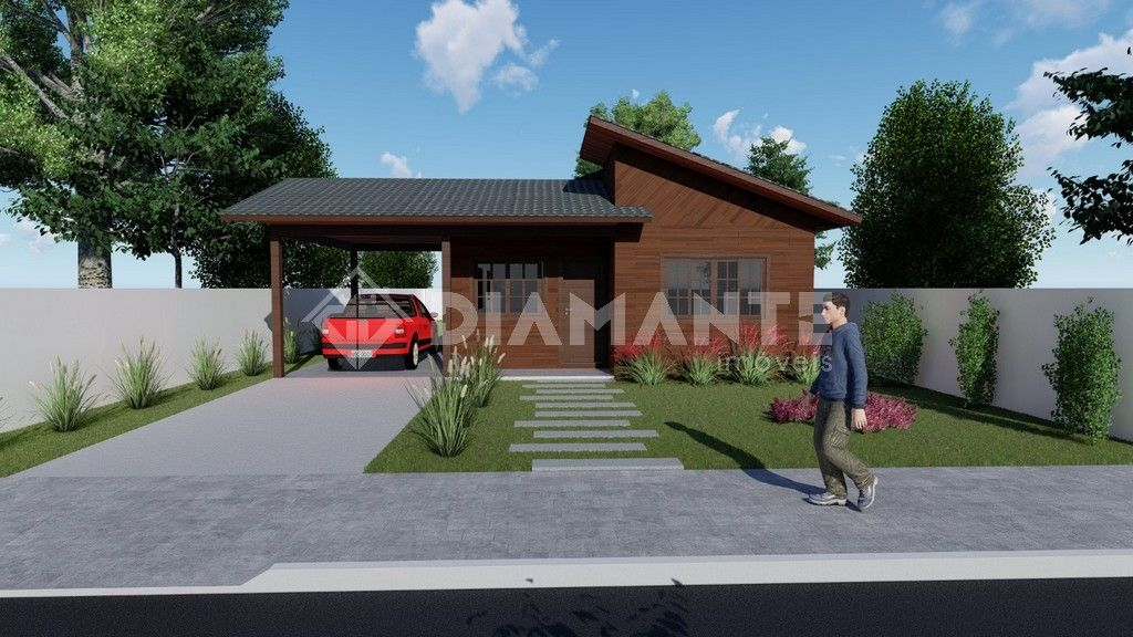 Fazemos Casa em Madeiras Nobres, telhas de cerâmica, construída em seu terreno