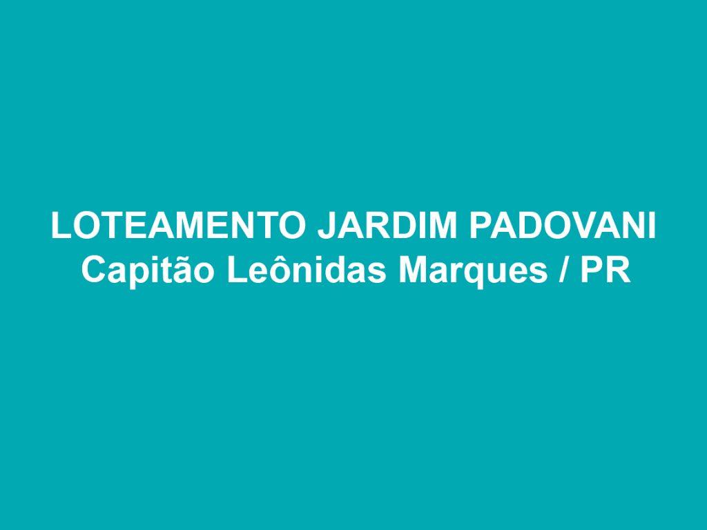 LOTEAMENTO JARDIM PADOVANI