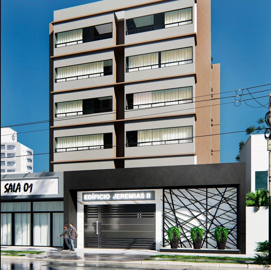 Apartamento de Frente no Ed. Geremias II, com 01 Suíte + 01 Quarto e Elevador!